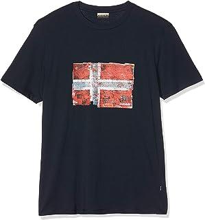 Seitem BLU Marine Camiseta para Hombre