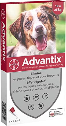 Advantix Spot-on per Cani dai 10Kg ai 25Kg - 4 pipette da 2.5ml