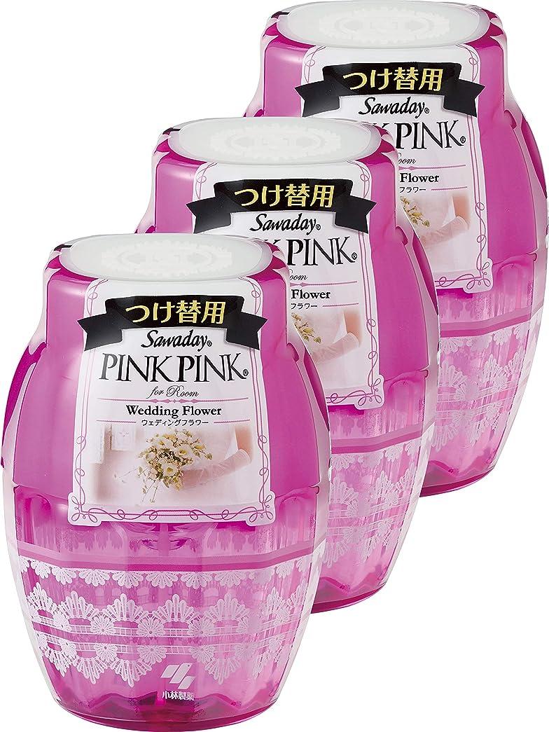 性能請求圧縮された【まとめ買い】サワデーピンクピンク 消臭芳香剤 部屋用 詰め替え用 ウェディングフラワー 250ml×3個