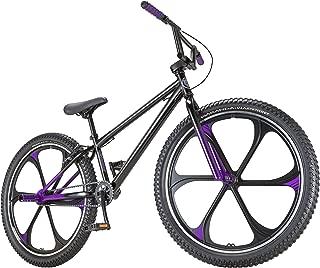 Black Panther Freestyle BMX Bike by Schwinn, Steel Frame, Single-Speed Drivetrain, and 26-Inch Alloy Mag Wheels, Great for the Bike Park or Cruising the Neighborhood, in Black/Purple (Renewed)
