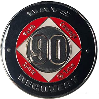 90 Days NA Coin, Medallion, Recovery Chip, 12 Step Token, narcotics anonymous coin