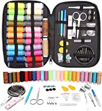 Sewing Kit with 97 Premium Sewing Supplies, Portable Sewing Kit with Scissors, Needles, Nail Clipper and Much More for Traveller, Adults, Kids, Beginner, Emergency, DIY and Home