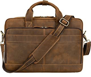 "Jack&Chris Men's Genuine Leather Briefcase Messenger Bag Attache Case 14"" Laptop, MB005B"