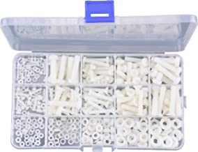 FPVDrone M2 M2.5 M3 M4 M5 M6 Nylon Screw Nut Plastis Washer Assortment Kit with Screw Storage Box(420PCS)