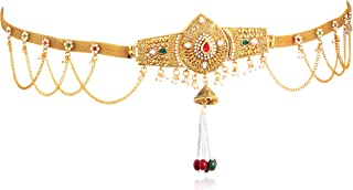 Sukkhi Alluring Pearl Gold Plated Kamarband for Women, Free Size (KB71865GLDPJ092017_Mar21)