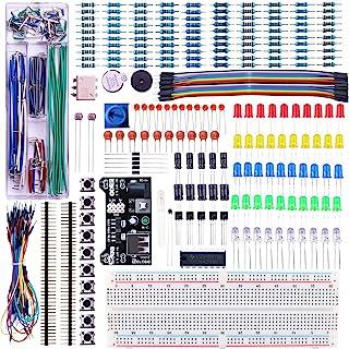 ELEGOO Upgraded Electronics Fun Kit w/Power Supply Module, Jumper Wire, Precision Potentiometer, 830 tie-Points Breadboard...