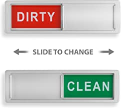 Clean Dirty Dishwasher Magnet – Non-Scratch Magnetic Silver Signage Indicator for..