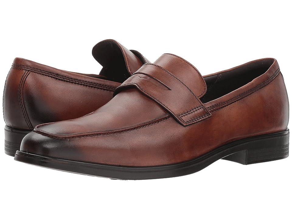 ECCO Melbourne Loafer (Amber) Men