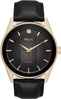 Relic by Fossil Men's Rylan Quartz Stainless Steel Diamond Accent Dress Watch