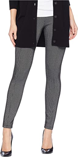 Reese High-Rise Ankle Leggings in Grid Patterned Ponte Knit