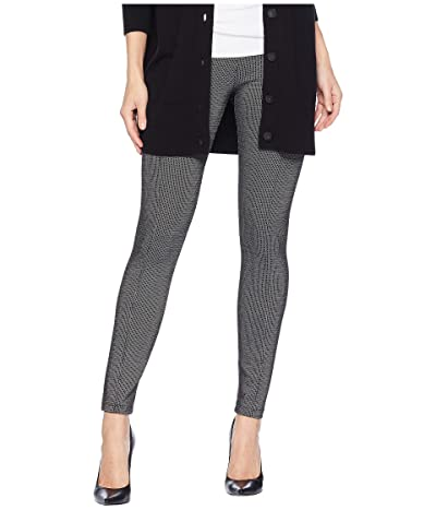 Liverpool Reese High-Rise Ankle Leggings in Grid Patterned Ponte Knit (Black/White) Women