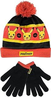 Pokemon Boys' Pokemon Hat and Gloves Set
