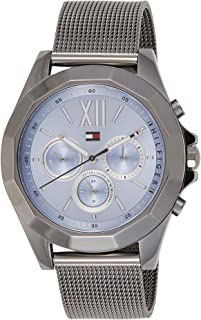 Tommy Hilfiger Womens Quartz Watch, Analog Display and Stainless Steel Strap