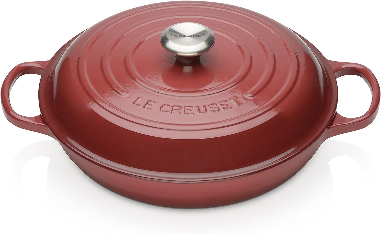muchas sorpresas Le Creuset Evolution- Cacerola Baja rojoonda de de de Hierro Colado Esmaltado, 30 cm, Color Burgundy  ventas en linea