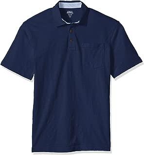 IZOD Men's Wellfleet Short Sleeve Solid Slub Polo