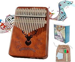 Kalimba Piano à Pouce 17 Clés - Haute Qualité Doigt Instrument, Tuning Hammer, Marimba Cadeau Musical Pour Débutants Enfan...