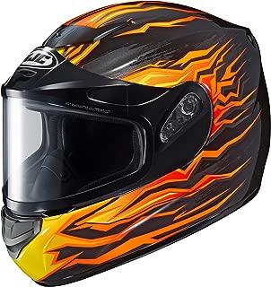 HJC CS-R2SN Flame Block Full Face Snow Helmet Framed Dual Lens Shield (MC-7 Orange, XX-Large)