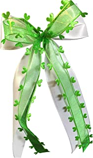 unser schönster Tag Antennenschleifen Autoschleifen Autoschmuck Hochzeit weiß grün SCH0096 25 Stück