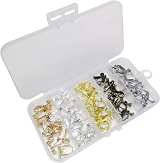 Chenkou Craft Assorted 50pcs(25pairs) Clip-on Earring Converter Component Easy Open Loop Earring Jewelry Making DIY Finding (Mix)