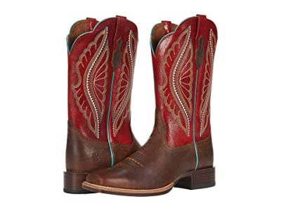 Ariat Primetime (Natural Crunch/Flame Red) Cowboy Boots