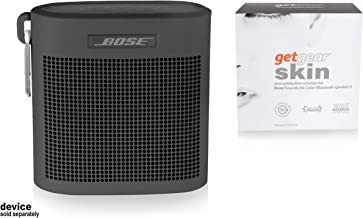 getgear Tailor Made Silicon Cover for Bose SoundLink Color Bluetooth Speaker II, Safeguard from Shock, Shake and Scratch, Fully Cover with Sound Through Design (Black)