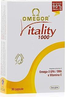 OMEGOR® Vitality 1000: ¡NUEVO con un 90% de Omega-3 TG! 5 * IFOS certificado desde 2006. EPA 535 mg y DHA 268 mg por perla. Min. Estructura 90% de triglicéridos y destilación molecular, 30 cps.
