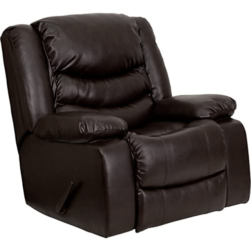 Home & Kitchen Infini Furnishings Bonded Leather Glider Recliner ...
