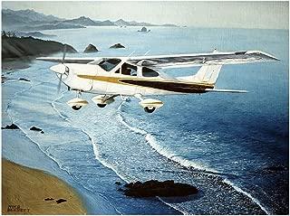 Cessna Travel Art Print Poster by Mike Bennett (9