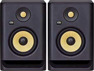 زوج سماعات ستوديو ار بي 5 احترافية ثنائية الامبير 5 بوصة تعمل بالطاقة من كيه ار جيه Rokit 5 G4، اسود