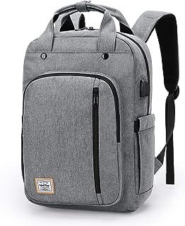 Mochila Portatil de hasta 15.6 Pulgadas Mochila Unisex Impermeable,con Puerto USB Mochila de Hombre y Mujer para Trabajo Viaja Diario Blanco
