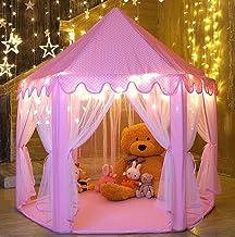 Monobeach Kids Play House Princess Tent – Indoor and Outdoor Hexagon Pink Castle..