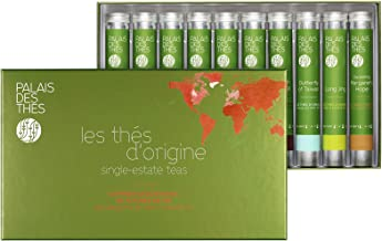 Palais des Thés Single-Estate Teas Indulgence Tea Gift Set with Ten Tubes of Loose Tea Sampler, 120g (4.2oz)