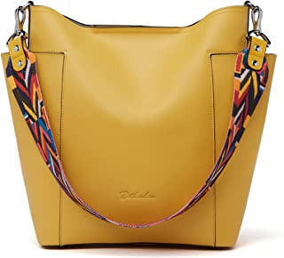 Yellow bag ladies yellow shoulder bag bright leather purse embossed bag crossbody bag gift for her round leather bag
