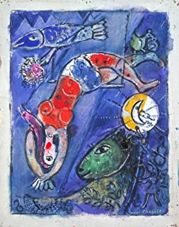 Gifts Delight Laminated 16x21 Poster: The Blue Circus, Marc Chagall Tate