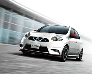 Nissan March Nismo S (2013) Car Art Poster Print on 10 mil Archival Satin Paper White Front Side View 36