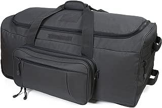 Wheeled Deployment Bag Trolley Duffel Bag,Travel Duffel Luggage Rolling Luggage for Heavy-Duty Camping,Hiking,Trekking (Gray)