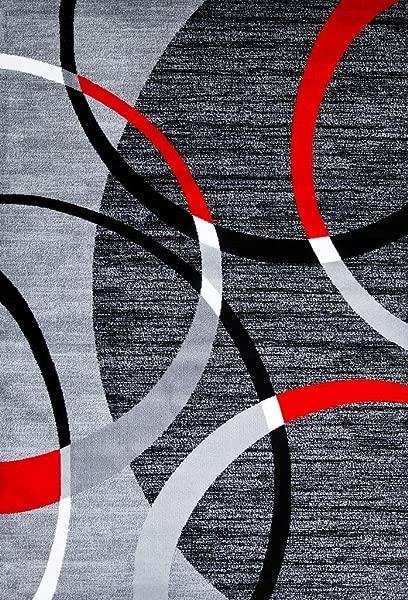 3895 Gray Swirls 5 2 X 7 2 Modern Abstract Area Rug Carpet