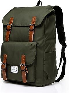 Outdoor Hiking Waterproof Rucksack College Bookbag 15.6in Laptop Backpack Green
