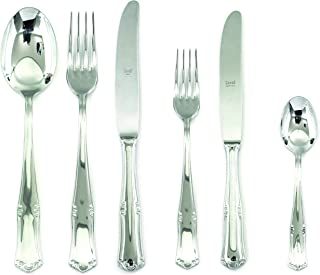 Mepra Bavaria 36 Pcs Flatware Set - Stainless Steel, Polished Finish Dishwasher Safe Cutlery