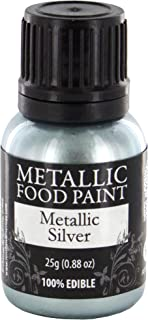 Metallic Food Paint, Metallic Silver, by Rainbow Dust