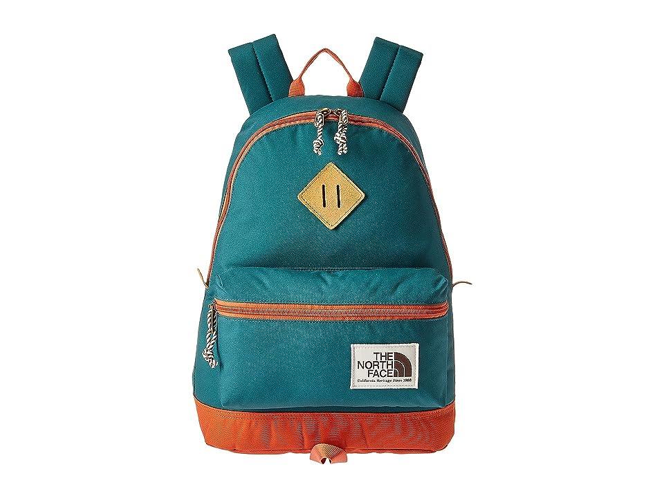 The North Face Mini Berkeley Backpack (Jasper Green/Weathered Orange) Backpack Bags