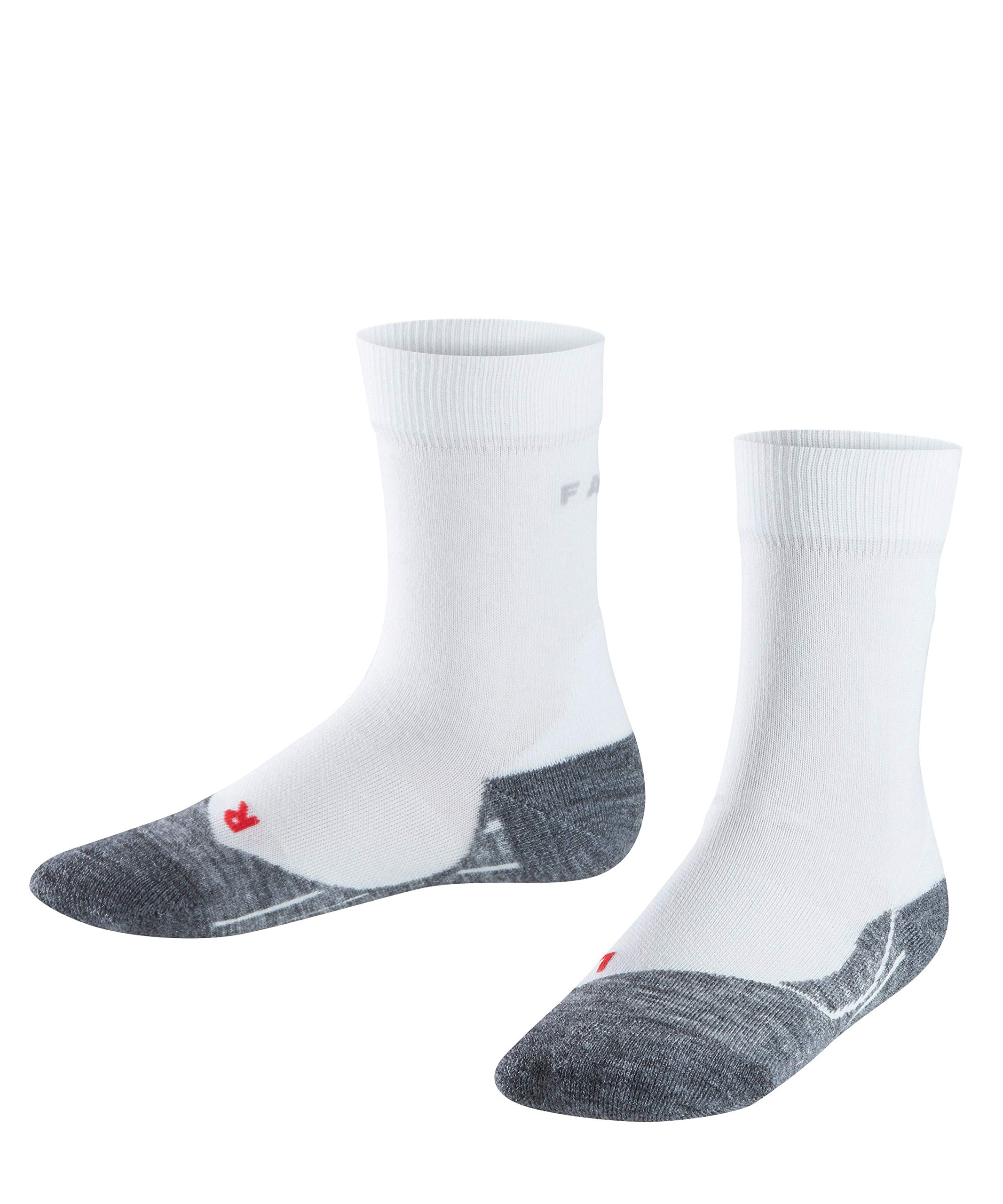 FALKE Kinder Laufsocken RU4, kurze Sportsocken mit Baumwolle, 1 er Pack, Weiß (