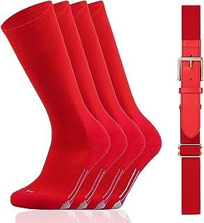 Youper Youth Baseball/Softball Belt & Socks Combo Set (2 Pairs of Socks & 1 Belt)