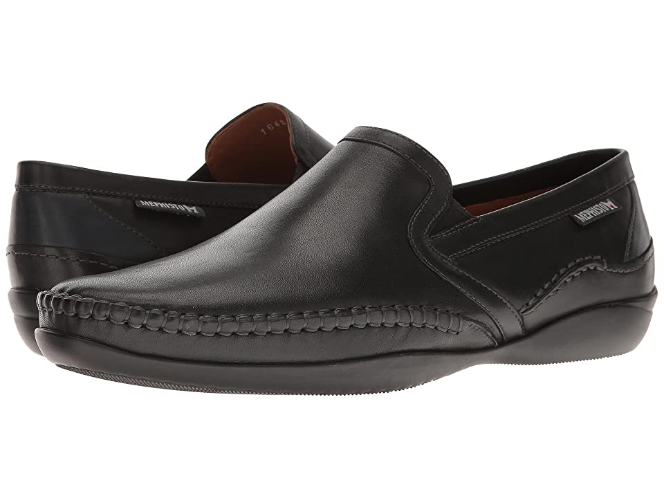 Mephisto Irwan (Black/Navy Joachim) Men's Slip on Shoes