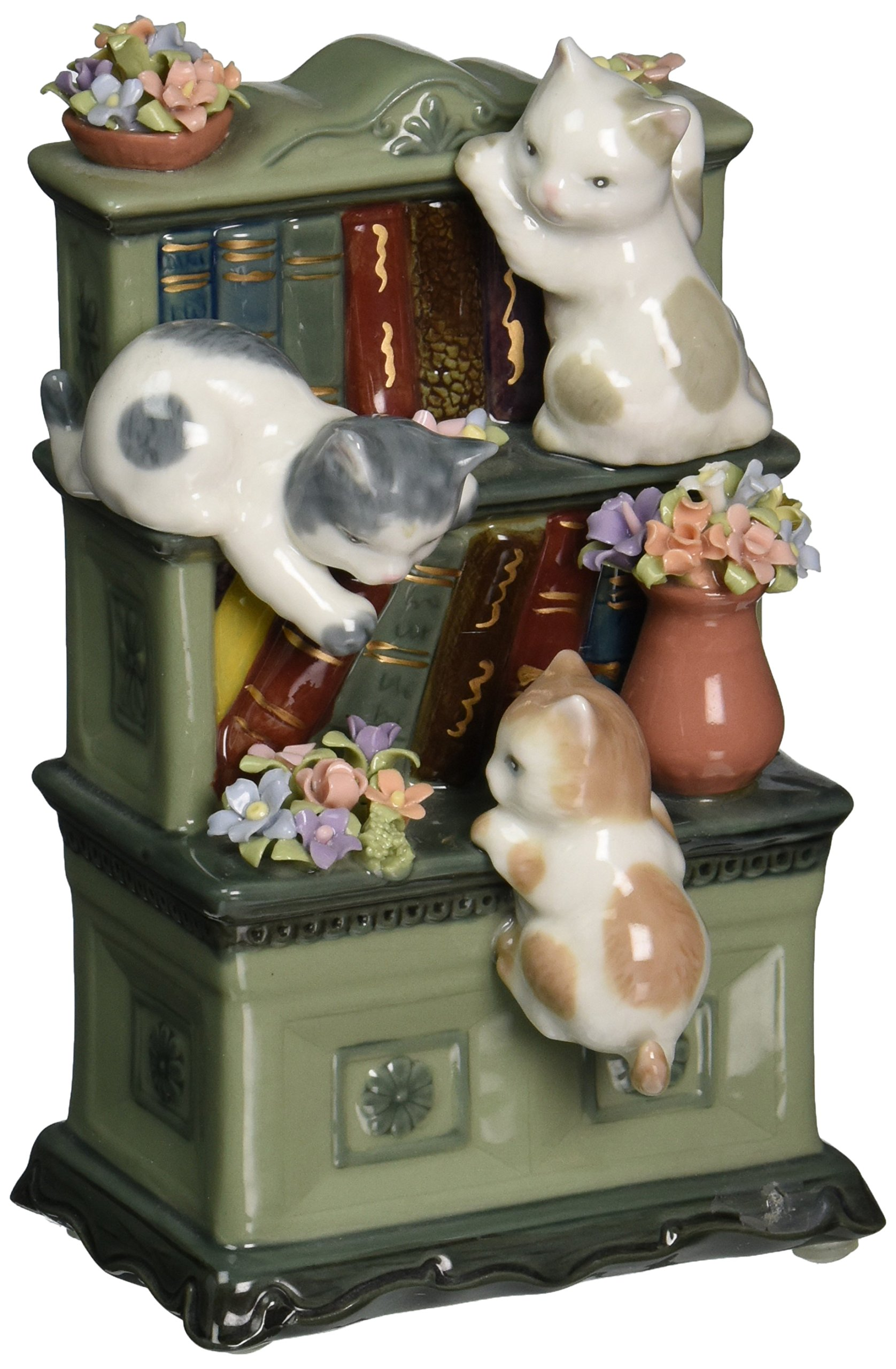 Image of Curious Kittens Musical Figurine