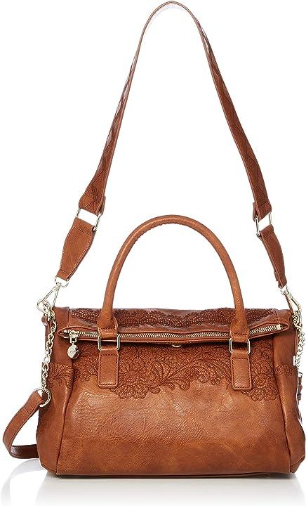 Borsa da donna - desigual 20saxpbq bols melody loverty  colore: marrone