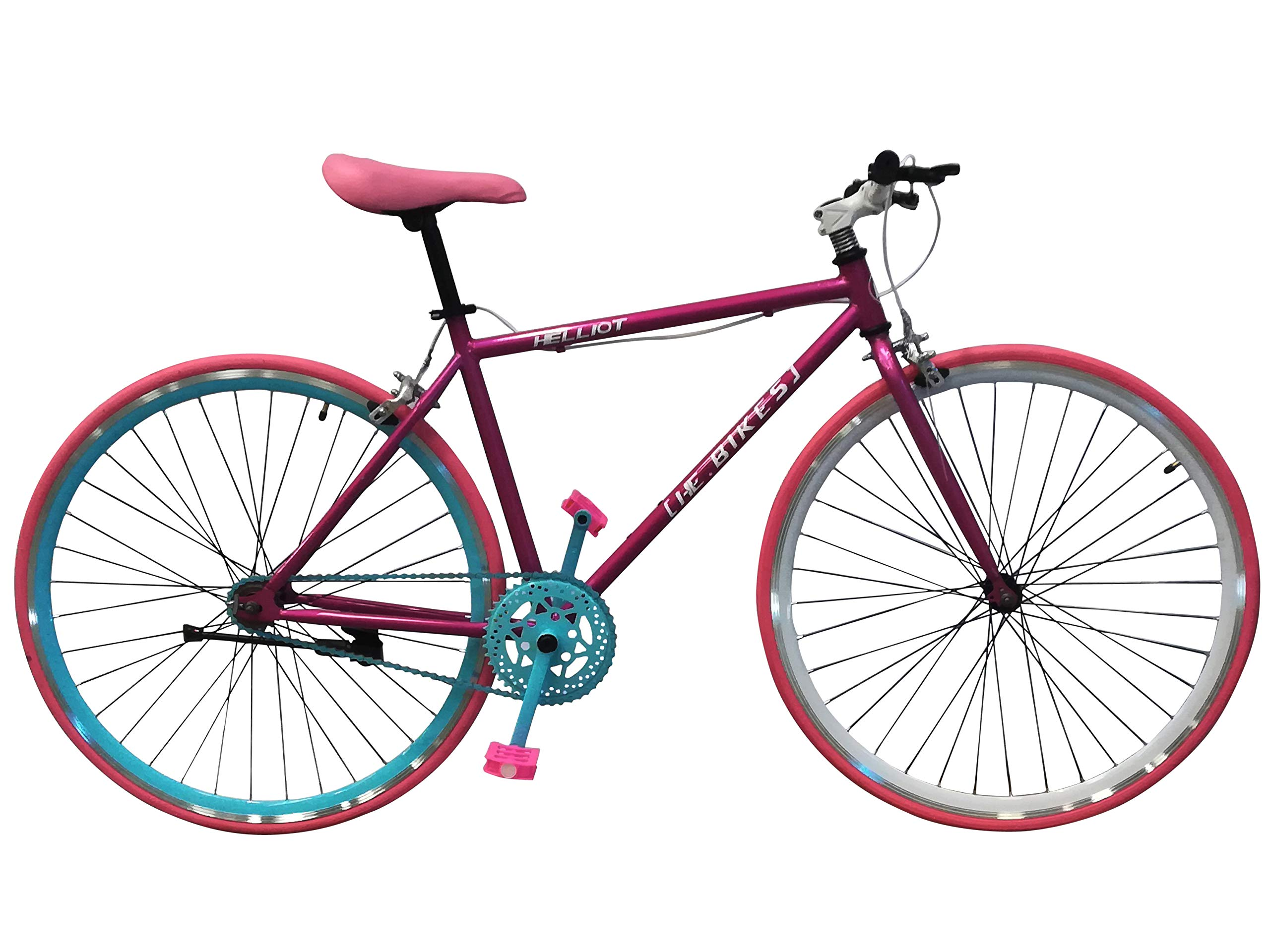 Helliot Bikes Soho 06 Bicicleta Fixie Urbana, Unisex Adulto, Rosa ...