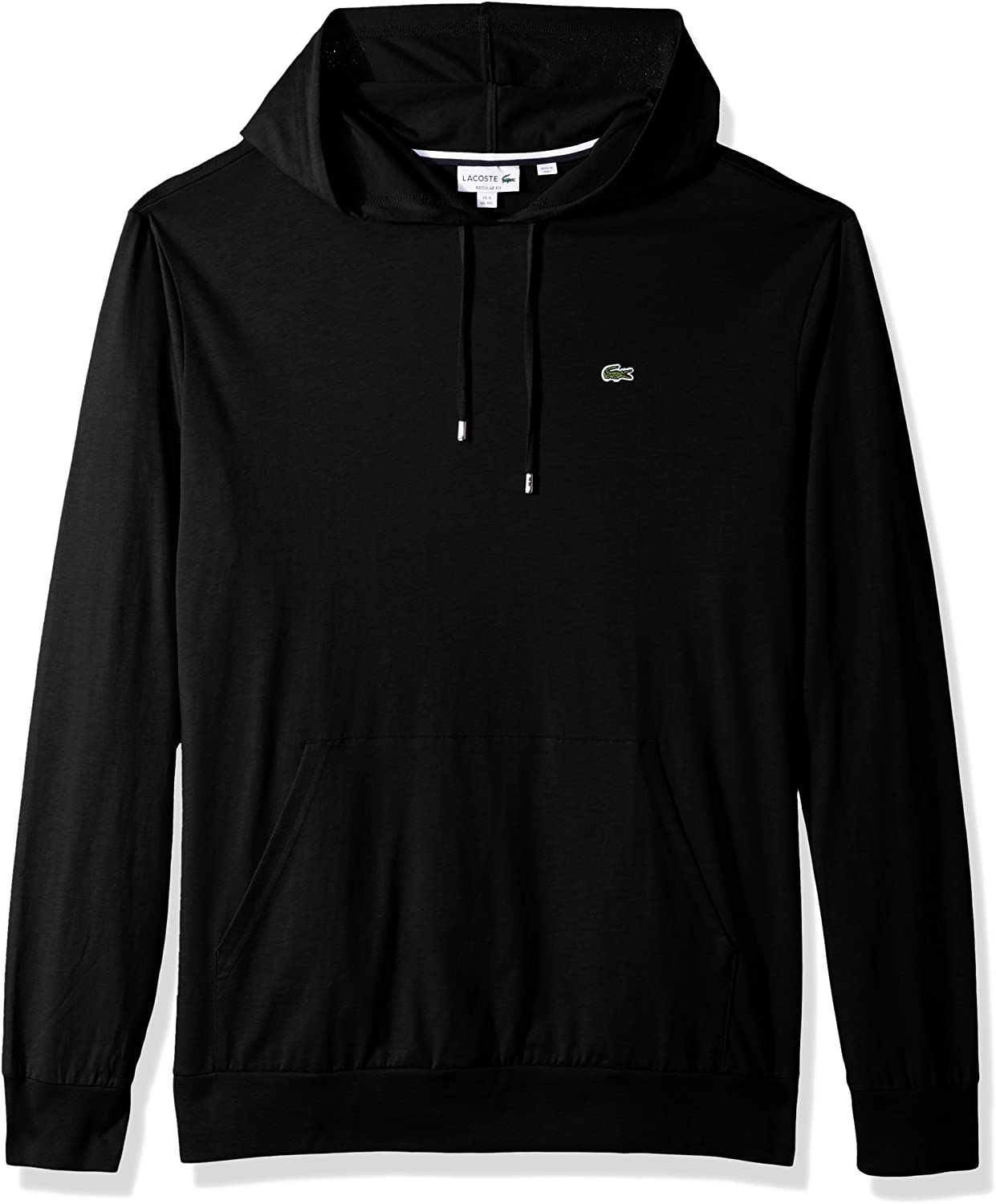 Lacoste Mens Long Sleeve Hooded Jersey Cotton T-Shirt Hoodie