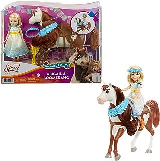 Mattel Spirit Untamed Miradero Festival Abigail Doll (7-in) with Dress, Floral Crown & Boomerang Horse (8-in), Floral Garl...