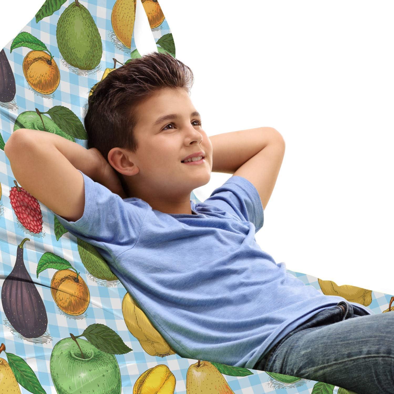 Lunarable Fruit Lounger Chair Bag Avoc Drawn Rhythmic Hand Tucson Mall Ranking TOP15 Food